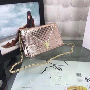 Designer Luxus-Handtaschen-Qualitäts-Damen-Kette Schultertasche Lackleder Diamant Luxus Abendtaschen Umhängetasche size19cm
