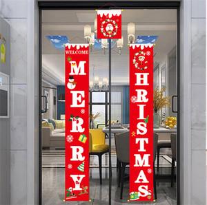 С Рождеством дверь висячих украшениями Крытых Открытых двери Показать куплеты украшение Новых рождественские украшения висячих флаги