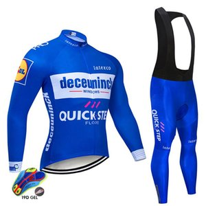 2020 quick step Autumn Cycling Jersey New Men Bike bib Pants Set Ropa Ciclismo Long Sleeve Spring Quick Dry Pro TEAM Maillot