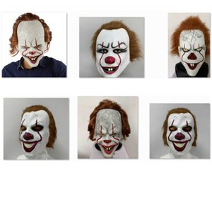 Halloween-Maske für Silikon-Film Stephen King Joker Pennywise Maske Vollgesichts Horror Clown Latex Maske Partei Cosplay Prop Masken XD21939