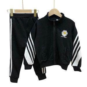 Fashion flower kids tracksuit boys tracksuit girls tracksuit long sleeve coat jacket+trousers pants 2pcs set casual kids suits retail B1085