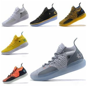 Nike KD 11 Sapatos de grife KD 11 Sapatas Do Esporte Kevin Durant 11 s Zoom mens correndo Atlético off sapatos de luxo branco KD PE Elite Baixo tênis