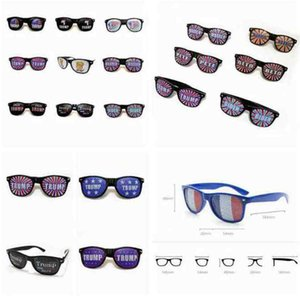 14 Styles Donald Trump Sunglasses 2020 American President Election Supplies Trump Rice Nail Sunglasses Plastic Sports Sunglasses ZZA2269