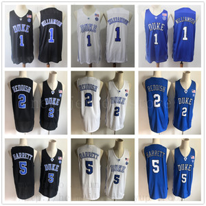 College Basketball Duke Blue Devils Jersey cosido 1 Zion Williamson 2 Cam Rojizo 5 RJ Barrett Marvin Bagley III Jayson Tatum Ingram Allen