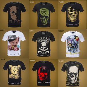 19SS deporte desginer Hip Hop diseños para camisetas de la cadera del algodón del cráneo de manga corta de los hombres de invierno hop diseñadores para hombre camisetas de las mujeres tops p9908