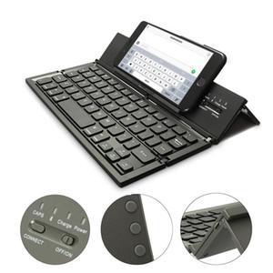 Clavier Bluetooth pliable sans fil portable pour table PC portable mini clavier QWERTY titulaire pour IOS pour Android Windows