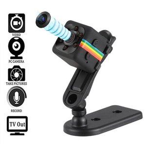 20pcs 2020 Hot 1080P 960P Mini HD Digital Camera Infrared Night Vision Outdoor Aerial Camera DV Video Car Driving Record SQ11