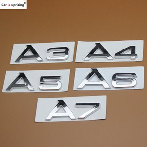 1pcs 새로운 자동차 스타일링 고품질 ABS 자동차 엠 블 럼 후면 번호 편지 스티커 아우디 A3 A4 A5 A6 A7 A4L A6L A8L 자동차 스티커
