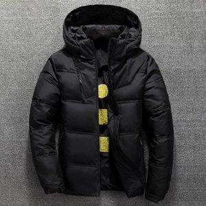 Solid Designer Couleur Zipper Lapel Neck Coats amovible Chapeau à manches longues Manteaux Vêtements de plein air court à capuchon Down Jacket Man