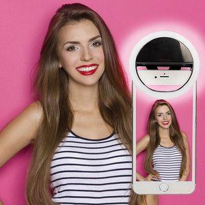 LED-Licht Selfie-Licht-Ring-Licht-Blitz-Lampe Selfie Ring Beleuchtung Kamera-Fotografie für Iphone Samsung mit Kleinpaket