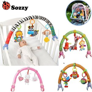 Lovely Baby Cradle Seat Cot Hanging Toys Crib Mobile Stroller Hanging Soft Plush Rattles Ring Bell Educational baby Toys 40% off CJ191216