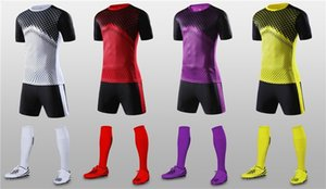 Children Short Sleeve Soccer Jersey & shorts Game Training Suits Boys Breathable Quick dry Sportswear Blank Football Jerseys