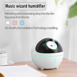 350ml Mini Light Music Mute Quiet Air Humidifier Diffuser Mist Humidifiers Moisturize Skin Ball Robot Design Sleep for Home Car Bedroom