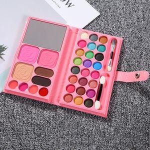 Mode-Mini-Portemonnaie Lidschatten Make-up Set beweglichen Spiegel-Lidschatten-Palette 33 Farben professionelle Kosmetik Matte Nude Lidschatten mit Pinsel