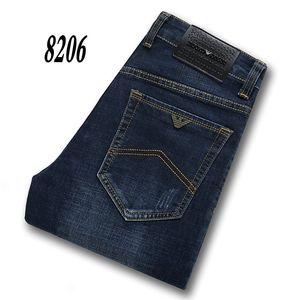 8206-2 AJ-Jeans ilkbahar ve sonbahar Pantolon Kalın kadife pantolon Erkek pantolon Stretch kot pamuk pantolon pantolon düz casual yıkanır