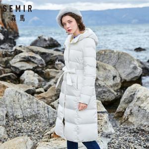 Chaqueta gruesa caliente de la capa de señora Cotton Parka invierno largo jaqueta la manera del invierno de las mujeres SEMIR con capucha Femenina
