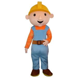 Bob der Baumeister kleidet ein Maskottchenkostüm für Erwachsene für die Halloween-Party