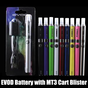 EVOD Battery with MT3 Cartridge Blister Kit Starter kit Clearomizer Rechargable 650mah 900mah 1100mah E Vigarette Kit Vape Pen Package