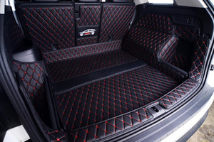 Leather Car Trunk Mat Cargo Liner for Kodiaq 2017 2018 2019 2020 boot Carpet Interior Accessories covers