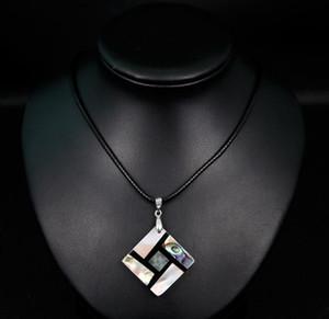 Natural Shell collana semplice ed alla moda di personalità collana ciondolo di diamanti