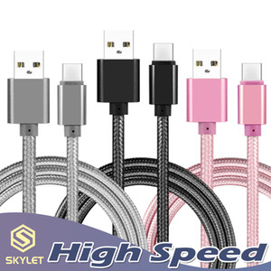 High Speed ​​USB Cable Tipo C para C Charging Adapter Data Sync metal carregamento Adaptador de Telefone 0,48 milímetros de espessura forte trançado USB C Charger