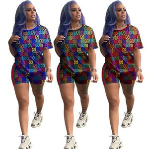 gündelik spor takım elbise yeni sıcak satış giyim klw3436 womens spor Kadınlar kısa kollu şort kıyafetler iki parçalı set eşofman