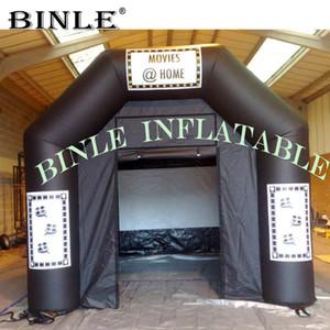 دائمة في الهواء الطلق خيمة مربع للنفخ مع شاشة محمول المسرح والسينما بيت السينما خيمة لحزب