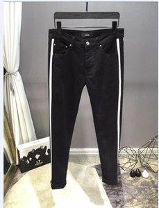 New Style Brand New Mens Jeans Distressed Ripped Biker Jeans Slim Fit Motorcycle Biker Denim Jeans Fashion Designer Pants