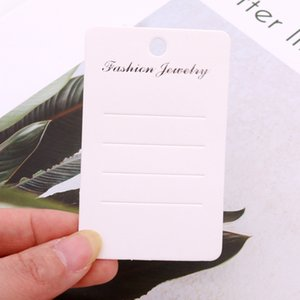 100pcs lot Concise Style View Hairpin Display Cards 5x8cm Fashion Jewelry Hair Accessories Packing Paper Tags Customized Logo