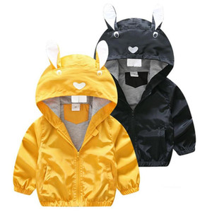 cute causal kids jacket coat solid animal squirrel hooded trench coat for 1-6years children boys girls cartoon outerwear clothes