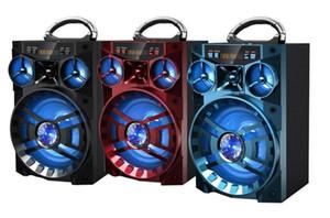 MS-188BT Bluetooth Haut-Parleur Big Sound HiFi Haut-Parleur Basse Subwoofer Sans Fil Boîte à Musique En Plein Air Avec USB LED Lumière TF FM Radio DHL