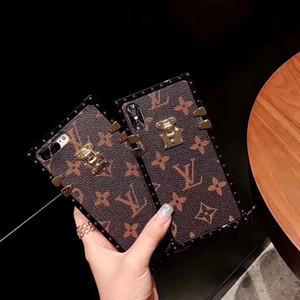 Bauletto marchio classico della pelle stile attaccare telefono copertina per iPhone 6 7 8 6s 8plus per iphone x xr per iPhone 11 11 Pro 11 A02 pro max