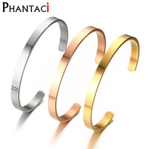 No Fade Titanium Stainless Steel Women Cuff Bracelets & Bangles High Quality Brand Bangle Fashion Open Metal Jewelry
