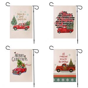 Yard Parti Festivali Of Noel Araç Serisi Banner Bayrak Çift Yan Baskılı Mutlu Noeller Mektupları Bahçe Bayraklar 30 * 45cm 9HY E1 Malzemeleri