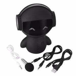 Robot lindo de TV Altavoz Bluetooth Karaoke M10 HIFI Smart-robot Super Bass portátiles Altavoces estéreo inalámbricos para banco de la energía del Karaoke