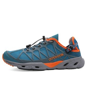 Men Upstream Quick Dry Aqua Outdoor Shoes Hiking Water Shoes Anti-skid Walking Quick Dry Shuo Creek Sneakers Women