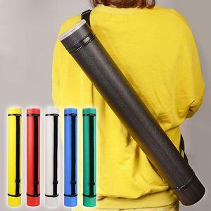 6 cores desenho Praça tubo ajustável Desenho portátil Strong Titular Poster Scroll Bow Arrow Quiver Tubo para o artista Supplies
