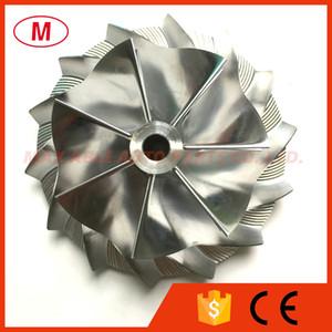 HX40 60.03 / 85.98mm 7 + 7 palas Compresor Turbo Billet de alto rendimiento / Aluminio 2618 / Rueda del compresor de fresado para Turbo CHRA / Núcleo