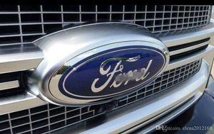 """Ford Parrilla delantera de la puerta posterior del emblema, oval 6 """"X2.4"""", Dark Blue Decal Placa Placa de características del 07-10 Edge, 05-11 Escape, 06-10 Explorer, 05-11 Expedito"""
