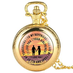 "Leisure Black Pocket Watch,Special""To My Boyfriend""Paster Classic Necklace Quartz Pendant Watch for Women,Lovers"