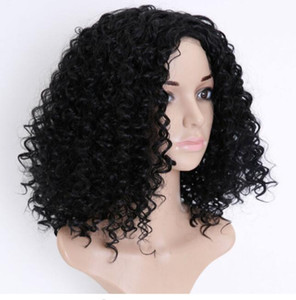 Hot Popular Natural Soft Black Curly Wavy Long Cheap Wigs with Hair Heat Resistant Glueless Synthetic Lace Front Wigs for Black Women