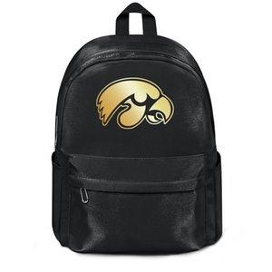 Айова футбола золотого логотип Мода спорт многоразового Wool плечо рюкзак Дизайн ретро Лучшие Шерстяной рюкзак