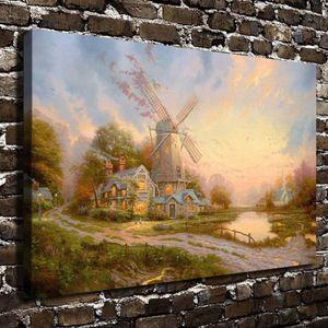 El viento del Espíritu, Thomas Kinkade, Pintura Lienzo de impresión de alta definición Nueva decoración del hogar Arte / sin marco / enmarcada