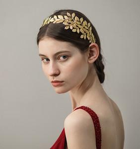 빈티지 웨딩 머리 띠 헤어 액세서리 신부 비녀 금박 여자 헤어 쥬얼리 결혼식 Tiaras Headpieces 보석 Prom BW-HP402