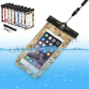 Camouflage téléphone mobile sac étanche natation colorée et plongée écran tactile intelligente anti-poussière pochette couverture téléphone intelligent cas 6 pouces