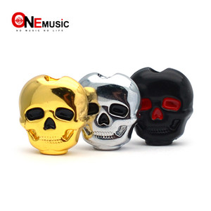 Multi Color 6pcs Plastic Skull Head Shape Guitar Tuning Peg Tuner Machine Head Replacement Button knob Handle