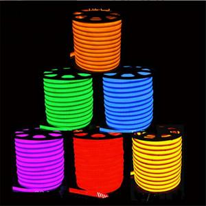 10 m / grup LED Flex Neon Işık hortum ışıkları ev tavan otel işaretleri modelleme 110 V 220 V LED Neon Işıkları mavi Ücretsiz kargo