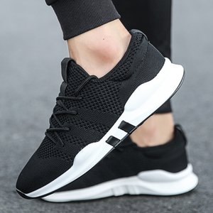ZXWFOBEY 2019 New Mesh Men Casual Mesh Shoes Lac-up Men Shoes Lightweight Comfortable Breathable Walking Sneakers