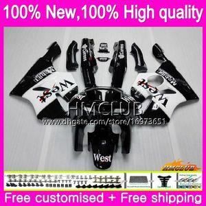 Body For KAWASAKI ZX 636 600 CC 600CC ZX6R 94 95 96 97 black west 61HM.2 ZX600 ZX636 ZX-6R 94-97 ZX 6 R 6R 1994 1995 1996 1997 Fairings