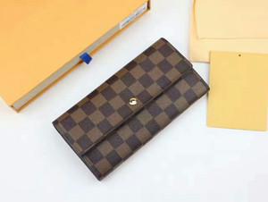 Yeni Sıcak Marka Kadınlar / Erkekler rahat Kart sahipleri Uzun Çile cüzdan 61734 kutu ile yüksek kalite Multicolore Çantalar cep Cüzdan çanta A15
